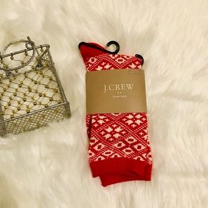 ✨NWT J. Crew Red & White trouser socks ✨